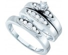 Three Piece Wedding Set 14K White Gold 0.50 cts. GD-15268