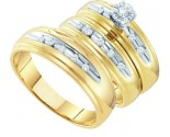 Three Piece Wedding Set 10K Yellow Gold 0.20 cts. GD-15478