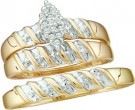 Three Piece Wedding Set 10K Yellow Gold 0.10 cts. GD-15911
