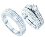 Three Piece Wedding Set 14K White Gold 2.00 ct. GD-16270