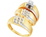 Three Piece Wedding Set 10K Yellow Gold 0.25 cts. GD-18163
