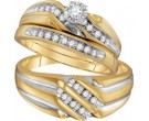 Three Piece Wedding Set 10K Yellow Gold 0.32 cts. GD-18167