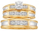 Three Piece Wedding Set 10K Yellow Gold 0.25 cts. GD-18445