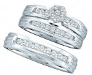 Three Piece Wedding Set 14K White Gold 0.50 cts. GD-18671