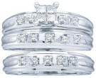 Three Piece Wedding Set 10K White Gold 0.24 cts. GD-19393