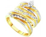 Three Piece Wedding Set 10K Yellow Gold 0.31 cts. GD-24335