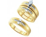 Three Piece Wedding Set 10K Yellow Gold 0.25 cts. GD-26484