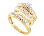 Three Piece Wedding Set 10K Yellow Gold 0.25 cts. GD-29597