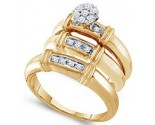 Three Piece Wedding Set 10K Yellow Gold 0.25 cts. GD-29599