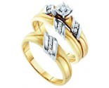 Three Piece Wedding Set 10K Yellow Gold 0.16 cts. GD-38046
