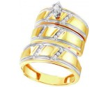 Three Piece Wedding Set 10K Yellow Gold 0.25 cts. GD-38999