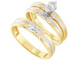 Three Piece Wedding Set 10K Yellow Gold 0.11 cts. GD-39565