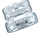 Three Piece Wedding Set 14K White Gold 0.76 cts. GD-40852