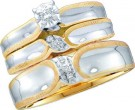 Three Piece Wedding Set 10K Yellow Gold 0.09 cts. GD-18169