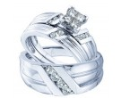 Three Piece Wedding Set 14K White Gold 0.75 cts. GD-45800