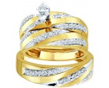 Three Piece Wedding Set 10K Yellow Gold 0.78 cts. GD-45943