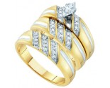 Three Piece Wedding Set 10K Yellow Gold 0.29 cts. GD-45948