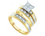 Three Piece Wedding Set 10K Yellow Gold 0.20 cts. GD-45982
