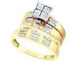 Three Piece Wedding Set 10K Yellow Gold 0.24 cts. GD-45987