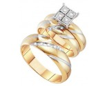 Three Piece Wedding Set 10K Yellow Gold 0.13 cts. GD-45990