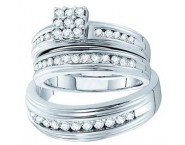 Three Piece Wedding Set 14K White Gold 1.00 ct. GD-46674