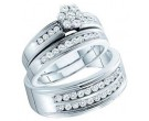 Three Piece Wedding Set 14K White Gold 1.00 ct. GD-46726