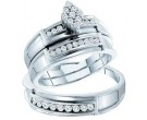 Three Piece Wedding Set 14K White Gold 0.51 cts. GD-46740
