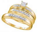 Three Piece Wedding Set 10K Yellow Gold 0.25 cts. GD-48379