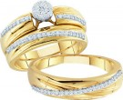 Three Piece Wedding Set 10K Yellow Gold 0.40 cts. GD-50862