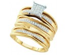 Three Piece Wedding Set 10K Yellow Gold 0.30 cts. GD-51055