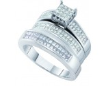 Three Piece Wedding Set 14K White Gold 1.42 cts. GD-53078