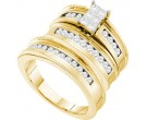 Three Piece Wedding Set 14K Yellow Gold 1.00 ct. GD-53531