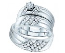 Three Piece Wedding Set 14K White Gold 0.43 cts. GD-54037