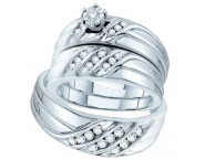 Three Piece Wedding Set 14K White Gold 0.43 cts. GD-54037 [GD-54037]