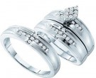 Three Piece Wedding Set 14K White Gold 0.36 cts. GD-54170