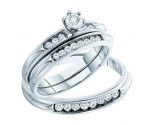 Three Piece Wedding Set 14K White Gold 0.40 cts. GD-54585