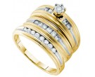 Three Piece Wedding Set 14K Yellow Gold 0.54 cts. GD-54932