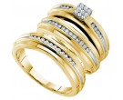 Three Piece Wedding Set 14K Yellow Gold 0.40 cts. GD-54934