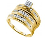 Three Piece Wedding Set 14K Yellow Gold 0.56 cts. GD-54938