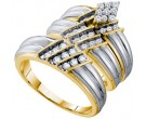 Three Piece Wedding Set 14K Yellow Gold 0.75 cts. GD-54942