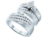 Three Piece Wedding Set 14K White Gold 1.20 cts. GD-54943