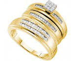 Three Piece Wedding Set 14K Yellow Gold 0.48 cts. GD-54945