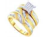 Three Piece Wedding Set 10K Yellow Gold 0.29 cts. GD-55157