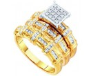 Three Piece Wedding Set 10K Yellow Gold 0.31 cts. GD-55161