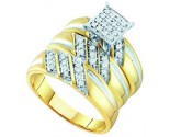Three Piece Wedding Set 10K Yellow Gold 0.29 cts. GD-55742