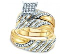 Three Piece Wedding Set 10K Two Tone Gold 0.43 cts. GD-55850