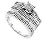 Three Piece Wedding Set 10K White Gold 0.25 cts. GD-56105