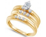 Three Piece Wedding Set 10K Yellow Gold 0.25 cts. GD-56432
