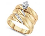 Three Piece Wedding Set 10K Yellow Gold 0.17 cts. GD-56444