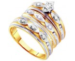 Three Piece Wedding Set 10K Yellow Gold 0.30 cts. GD-56454